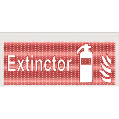 Indicator extinctor rosu